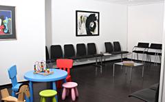 HNO Bottrop -  Wartezimmer mit kinderspielecke